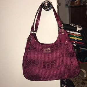 Deep purple coach bag